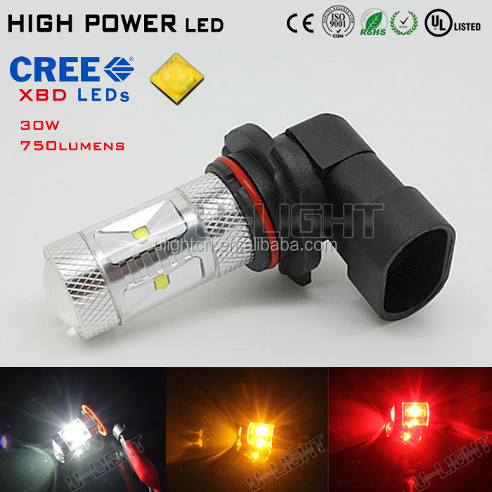 30W 9006/HB4 LED Fog Light with best CREEs XBD chips 750LM 2 years warranty