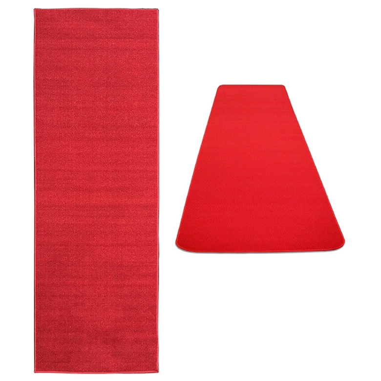 Dirty Removing Nonwoven Needle Punch Red Color Non Slip Stair Carpet