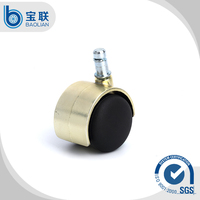 First quality rubber caster wheel/ office chair rubber caster/ office chair caster brass casters