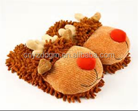 Christmas Rudolph shape Plush winter house Slippers / animal shape design warm indoor plush shoes