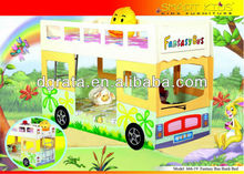 2013 the kid bus bunk bed is MDF board cool style children bedroom furniture