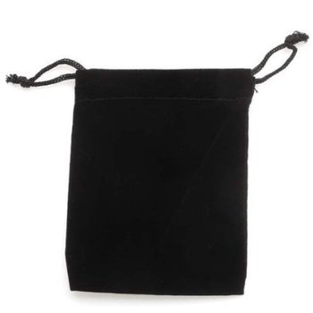 Black Velvet Cloth Storage Pouch for Jewelry bags