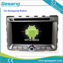 car audio android 6.0 car dvd player for Ssangyong Rodius with gps