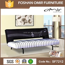 SF7212 3D click clack leather sofa bed sleeping multi-function sofa bed