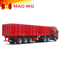3 Axles Truck Cargo Box Semi