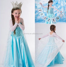 Custom made kids ozen elsa mascot costume elsa dress cosplay costume for party BC12371