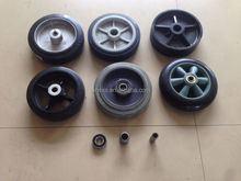small rubber wheel with bearings