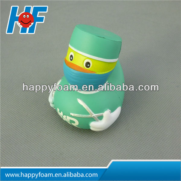 Doctor Duck PU stress ball for Promotional