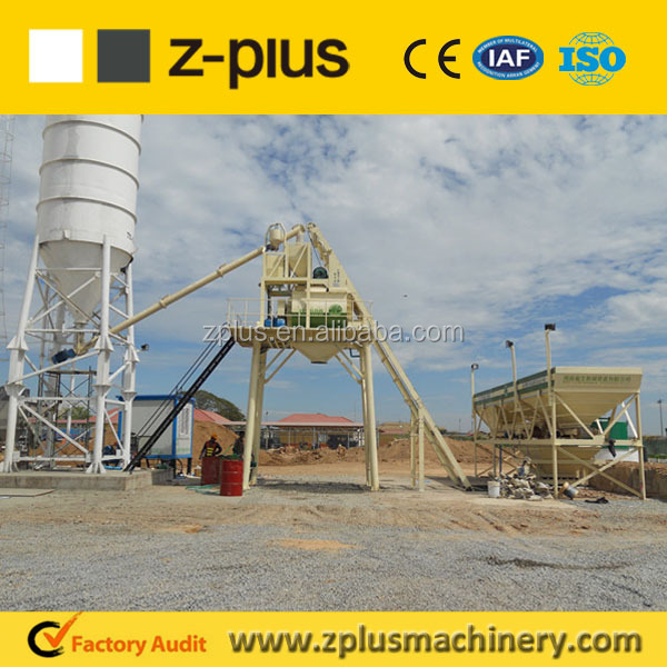 Zplus Asia, Russia Hot Sale Concrete Mixing Plant Electronic Mini Project of HZS25