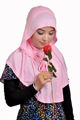 high quality big size cotton two peices muslim hijab SYF078