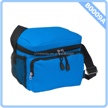 Brand Travel Cooler Lunch Bag Royal Blue w Black Zippers