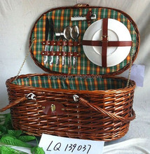 large hamper baskets wicker picnic basket with two handles and picnic plates and tools