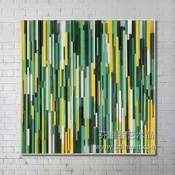 Sold!! Acrylic Green Color Handmade Oil Painting