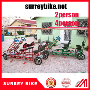 electric surrey bike 4 wheel bicycle two person surrey bike four person surrey bicycle