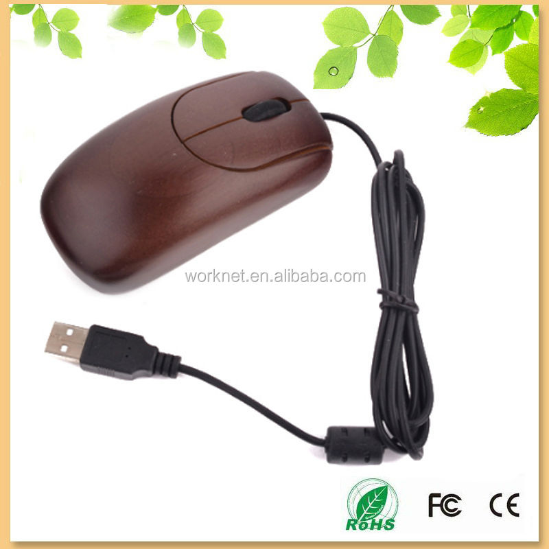 2014 new products handmade natural bamboo mouse in coffee color