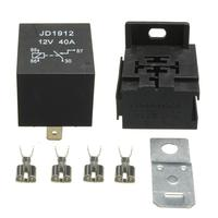 12V 40Amp 4 Pin Split Charge Relay ON/OFF Relay For Car Ship Boat Motorcycle+Base+Terminals