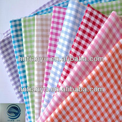 plaid and checked fabric for school wear fabric/cotton school uniform fabric