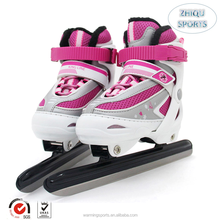 Hot selling foreign export top Quality hot sale kids and teenagers pink Adjustable skating speed shoes ice speed skates