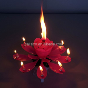 Fantasy Gift Singing Birthday Song Cake Fountain Candle Types For Party
