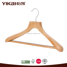 Natural color wooden coat hanger