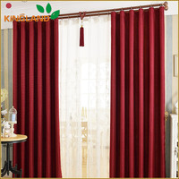 Luxury linen solid blackout curtain design for hall