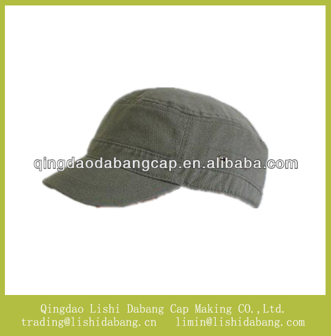German military caps pre-wash cotton cheap plain military cap