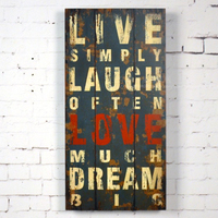 MG410 Live Laugh Love Wooden Wall decor Decorative Wall Hanging Art and Craft