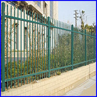 security fence, tubular fencing steel spear top black fence panels