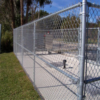 Green Color Removable Chain Link Fence