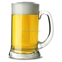 China Manufacture Supply glass mug half pint glass beer tankard wholesale clear glass mug with handle