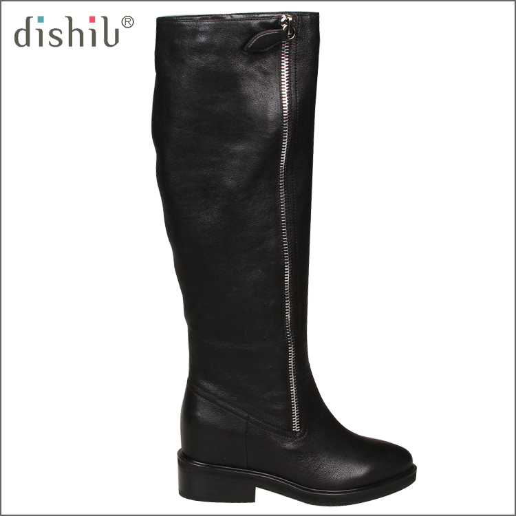 Free shipping shoes women boot for winter snow plush warm genuine leather high quality