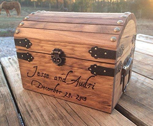 Engraved Wooden Card and Memory Chest