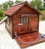 ZPDK1008XXL Outdoor Wooden Kennel Big Dog House for Large Dogs