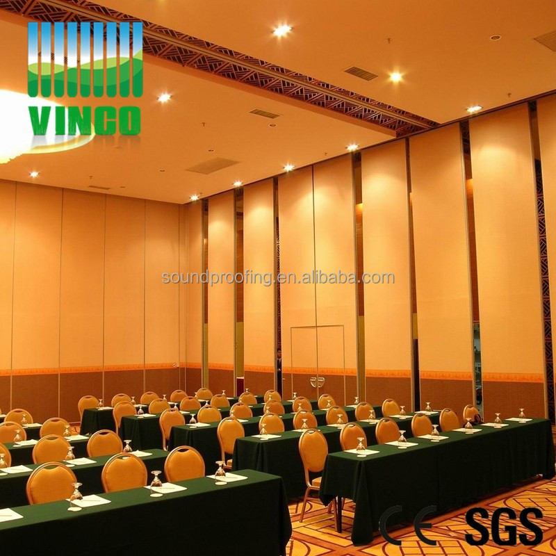 Artistic Fire Resistant Soundproof Acoustic Folding Movable Partition Wall Panel
