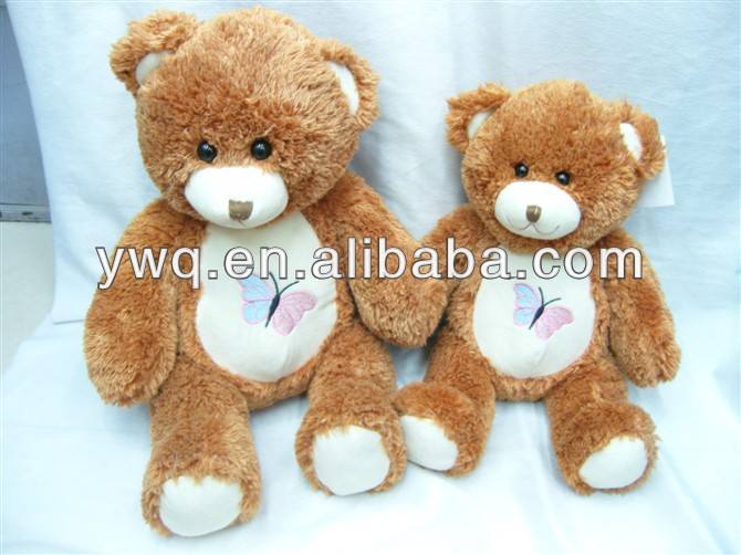 Promotional cutemother and son bear toys for sale/PP cotton stuffed plush toys
