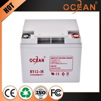 Low price competitive price hot fashion 12V 38ah UPS battery