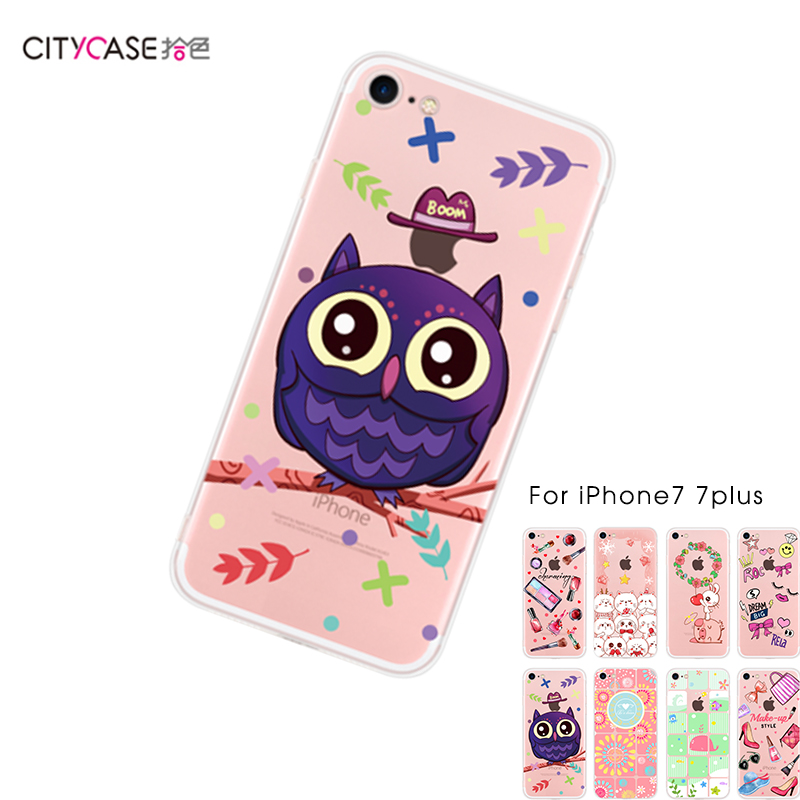 CITYCASE Small MOQ Cartoon Soft TPU Phone Case for iphone 7 7s 7Plus Cover
