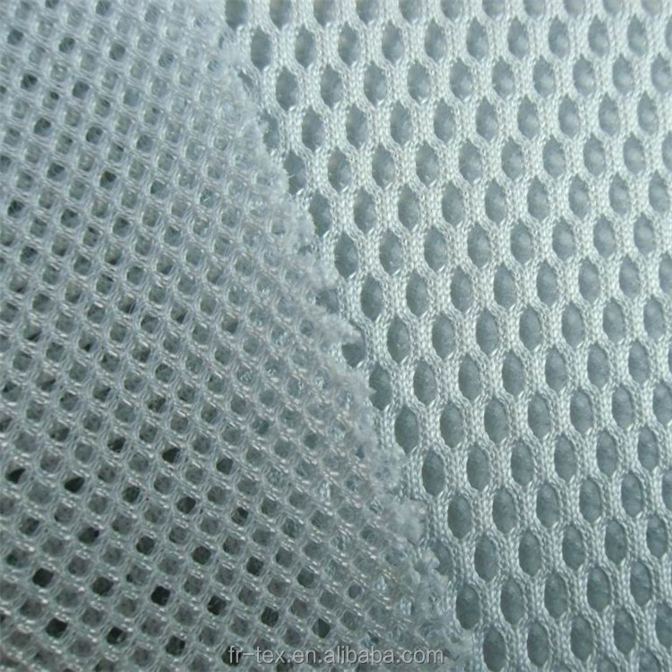 Poly Sandwich Mesh Fabric with holes on two sides for mattress, bedding, cushion, sofa, Bag etc