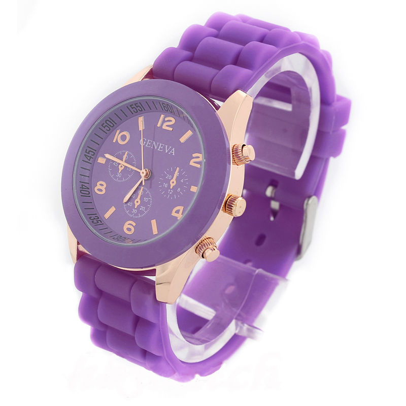 NEW Unisex Geneva Silicone Jelly Gel Quartz Analog Sport Wrist Watch for Girls Women