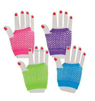 2015 New Style Colorful Fish Net Gloves Neon Green