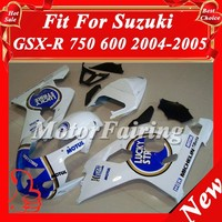 ABS Fairing Set for Suzuki blue White GSX-R600/750 2004 2005 04-05 GSXR600 K4 Plastic Fairing Kit GSX-R750