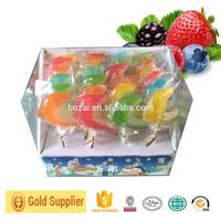 Bozai magic colorful candy swirl lollipops with mini round candy