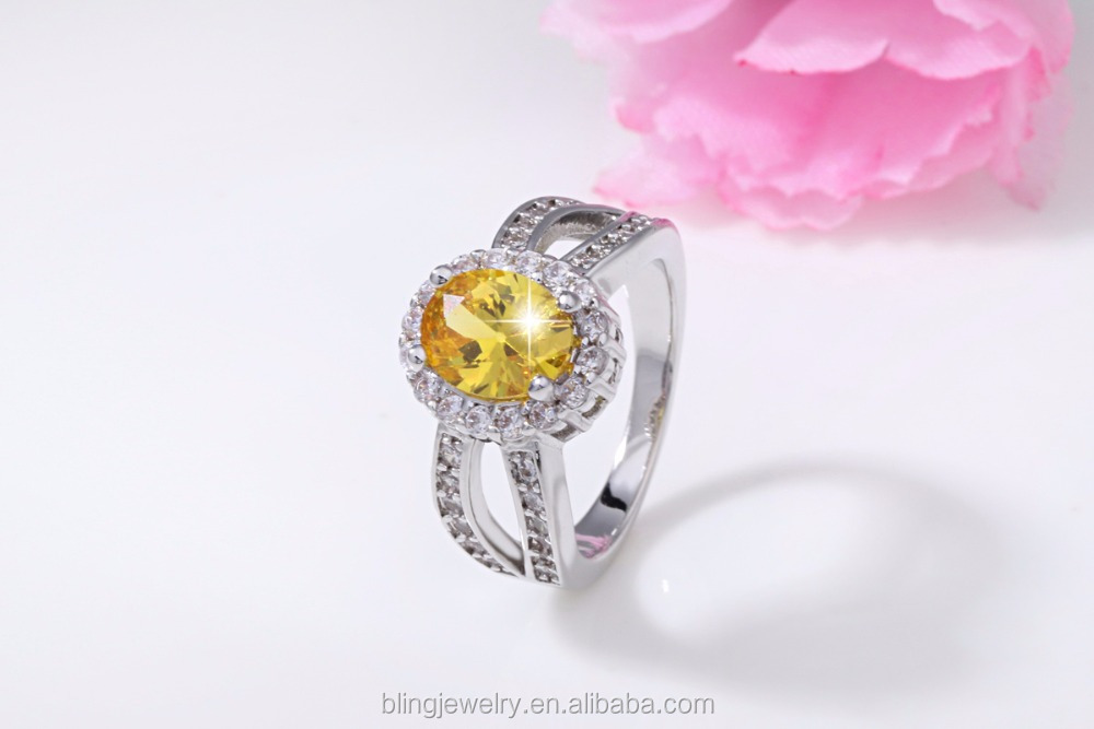 High Quality Shinny wedding ring ,CZ ring with gold plated
