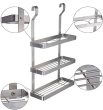 ESYLIF 3 Tier Kitchen Wall Mounted Metal Hanging Spice Rack Organizer , Silver