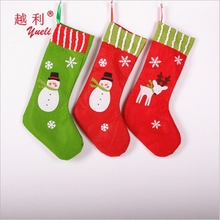 light up christmas combed cotton cheap knee high socks