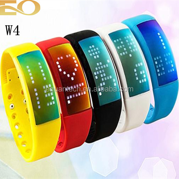 USB led silicone touch watch