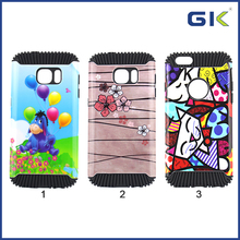 [GGIT] Wholesale Hedgehog Shockproof With Lighit Oil Pattern 2 in 1 TPU+PC Cover Case For Samsung Galaxy S7