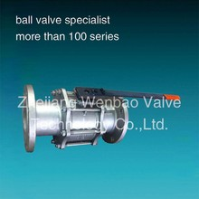 PN40 3pc stainless steel cf8m ss316 ball valve / 1.4408 flanged ball valve / 5 inch stainless steel ball valve