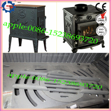 Antique european cast iron wood burning stoves