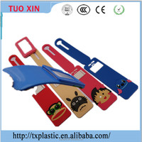 bulk high quality lovely design travel custom made soft pvc luggage tag
